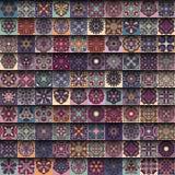 无缝的模式 装饰要素葡萄酒 背景被画的现有量 回教,阿拉伯语,印地安人,无背长椅主题 为打印完善 免版税库存图片