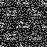 无缝的模式 题字圣诞快乐和新年好 冬天冷淡的卷毛递图画 也corel凹道例证向量 库存例证