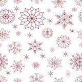无缝的模式 Christmas_snowflakes 库存例证