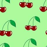 无缝的樱桃 库存图片