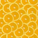 无缝的橙色切片摘要样式 库存图片