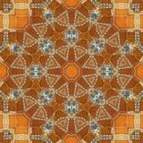 无缝的橙色珠宝样式004 库存照片