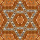 无缝的橙色珠宝样式003 免版税图库摄影