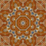 无缝的橙色珠宝样式005 库存照片