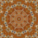 无缝的橙色珠宝样式006 库存照片