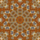 无缝的橙色珠宝样式008 免版税库存图片