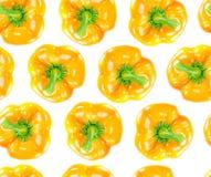 无缝的橙色甜椒 库存图片