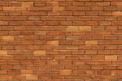 无缝的橙色砖墙纹理 免版税库存照片