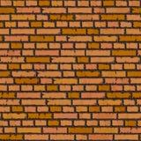 无缝的橙色砖墙背景。 库存图片