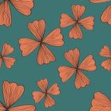 无缝的橙色花纹花样 免版税库存照片