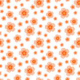无缝的橙色花纹花样 免版税库存图片