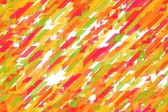无缝的欢乐鲜绿色对角线、三角和对角块混合设计 库存照片