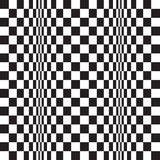无缝的欧普艺术波动图式背景 库存例证