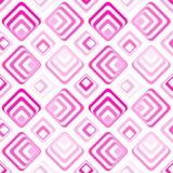 无缝的正方形几何样式桃红色 免版税库存图片