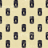 无缝的油桶样式 库存照片