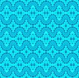 无缝的波动图式土耳其玉色 向量例证