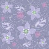 无缝的浅紫色的花卉样式 库存照片