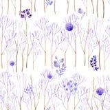 无缝的淡紫色森林 向量例证