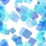 无缝的混乱方形的样式背景-从任意被转动的正方形的向量图形设计与不透明作用 库存例证