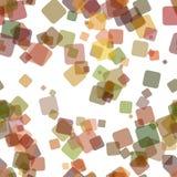 无缝的混乱方形的样式背景-从任意被转动的正方形的向量图形设计与不透明作用 向量例证