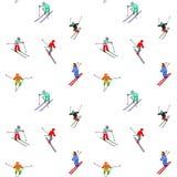 无缝的滑雪模式 免版税库存照片