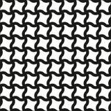 无缝的漩涡塑造黑白样式 免版税库存图片