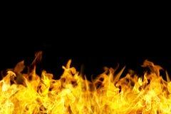 无缝的火发火焰边界 免版税库存图片