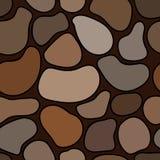 无缝的灰色和棕色石样式 库存图片