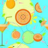无缝的热带橙色重复样式 库存图片