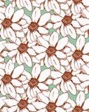 无缝的热带花纹花样背景 样式剪影 免版税库存照片