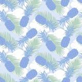 无缝的热带菠萝样式 库存图片