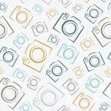无缝的照片照相机样式 免版税图库摄影