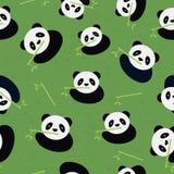 无缝的熊猫样式。 库存例证