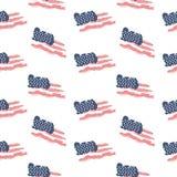 无缝的爱国样式旗子美国 库存图片