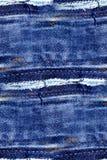 无缝的牛仔裤纹理-抽象难看的东西背景 免版税库存照片
