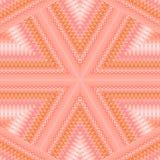 无缝的特征模式桃红色黄色灰棕色 免版税库存照片