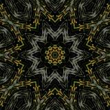 无缝的特征模式橙黄灰色黑色 向量例证