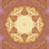 无缝的特征模式褐色金紫罗兰 库存例证