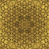 无缝的特征模式金子 免版税图库摄影