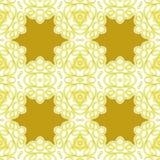 无缝的特征模式金黄白色 免版税库存图片