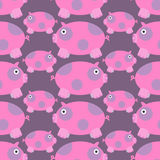 无缝的猪样式 库存例证