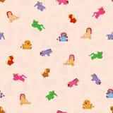 无缝的玩具样式 免版税库存图片
