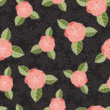 无缝的玫瑰色样式 免版税库存照片
