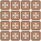 无缝的现代棕色艺术样式陶瓷砖背景 皇族释放例证