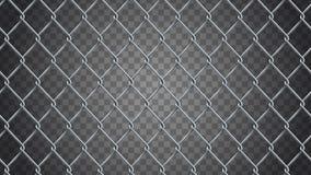 无缝的现实链节篱芭背景 传染媒介滤网是 向量例证