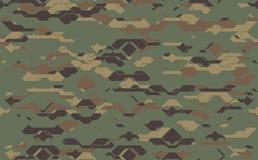无缝的现代军队伪装织品纹理 抽象传染媒介未来派camo锦缎 库存照片