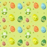 无缝的瓦片复活节彩蛋背景 皇族释放例证