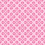 无缝的甜桃红色花形状样式背景 向量例证
