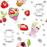 无缝的甜点 免版税库存图片