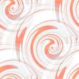 无缝的白色和桔子漩涡 图库摄影
